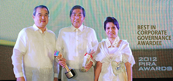 BEST IN CORPORATE GOVERNANCE AWARDEE 2012